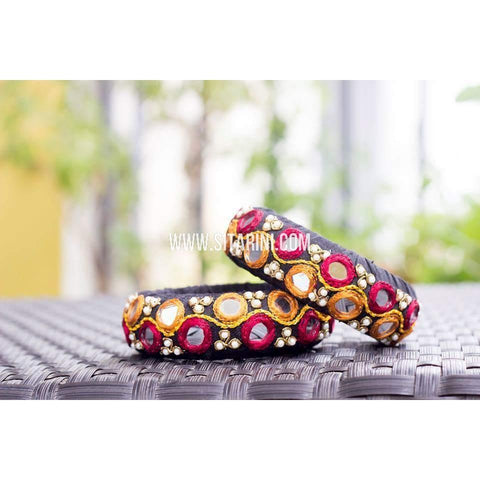 Zardosi Bangles-Brown-Broad-One Piece-Sitarini