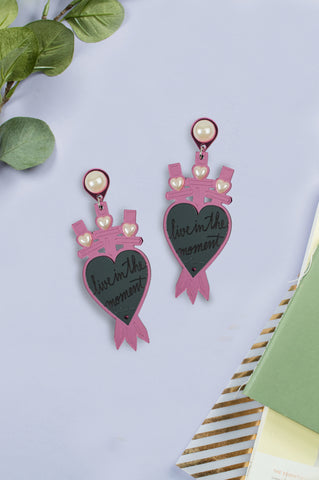 Heart swords earrings