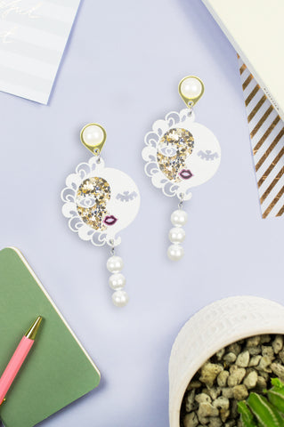 SUNmoon earrings