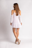 White with Gold Trim Crochet Trim Coverup