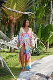 Tie Dye Twist Front Duster CoverUp