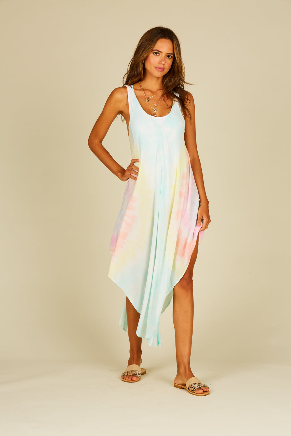 Lolli Tie Dye Swing Tank Dress