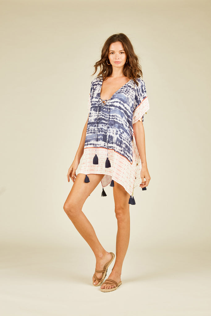 Placement Border Tie Dye Coverup