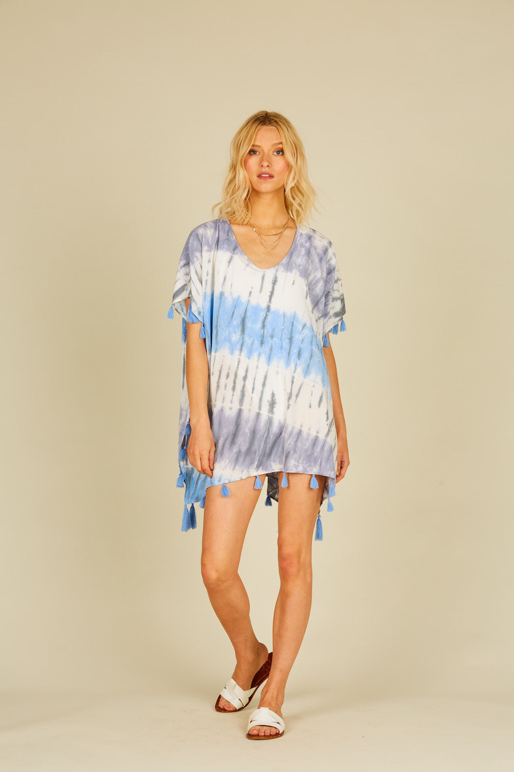 Seaside Diagonal Tie Dye CoverUp