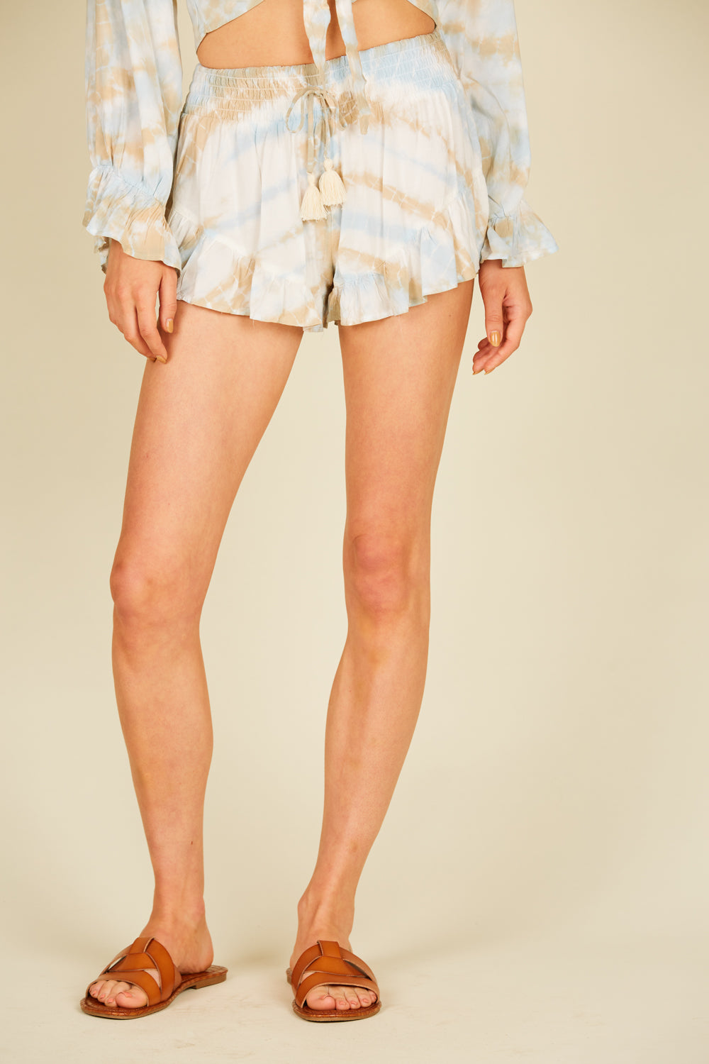 Sandy Beach Tie Dye Ruffle Short
