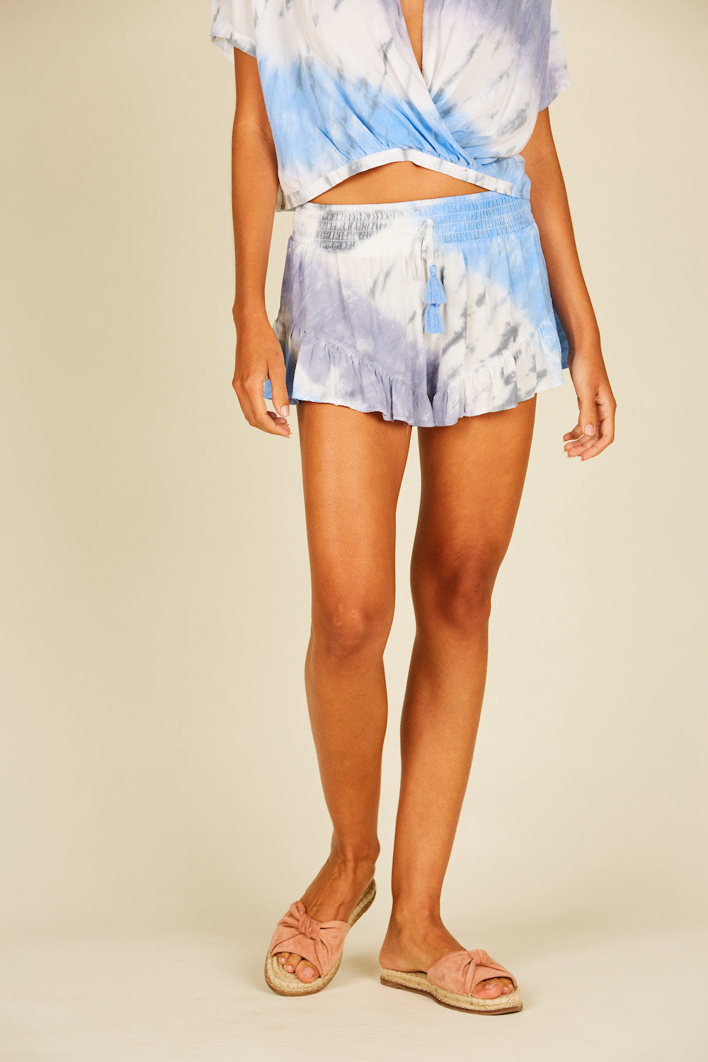 Seaside Tie Dye Ruffle Short