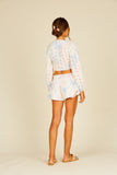 Embroidered Smock Waist Shorts