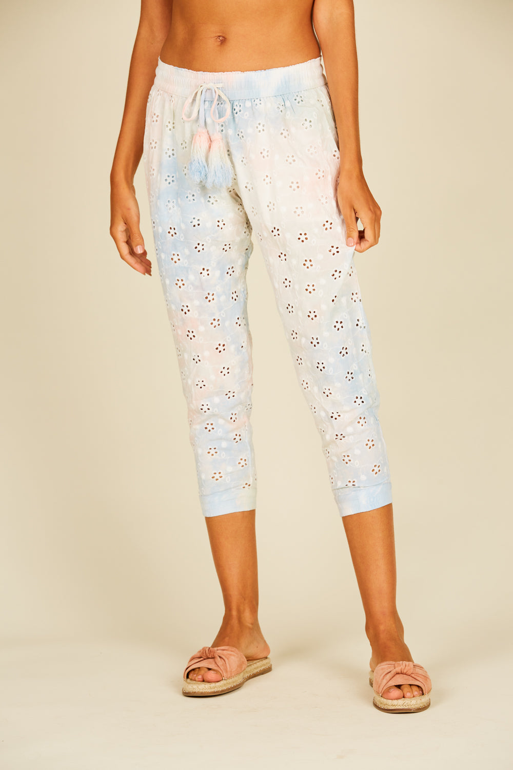 Eyelet Embroidered Genie Pants