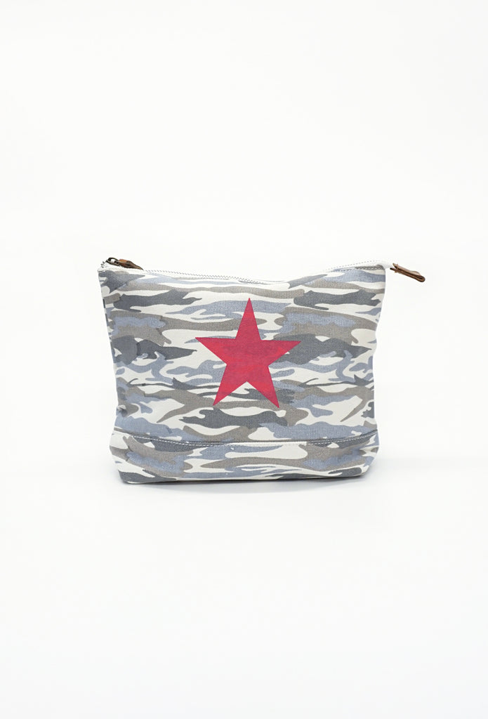 Camo Star Print Cosmetic Bag