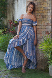 Tribal Off Shoulder Maxi Dress