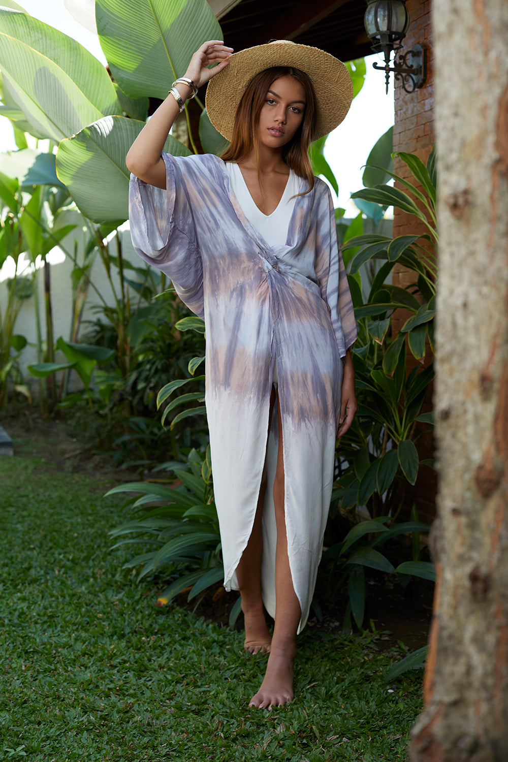 Tie Dye Twist Duster Cover Up