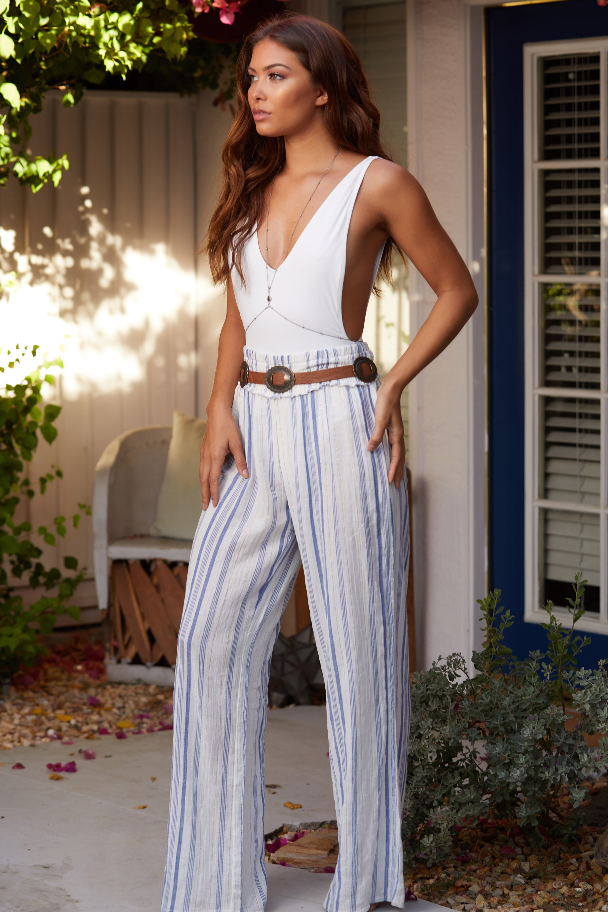 Bali Stripe Wide Leg Pants