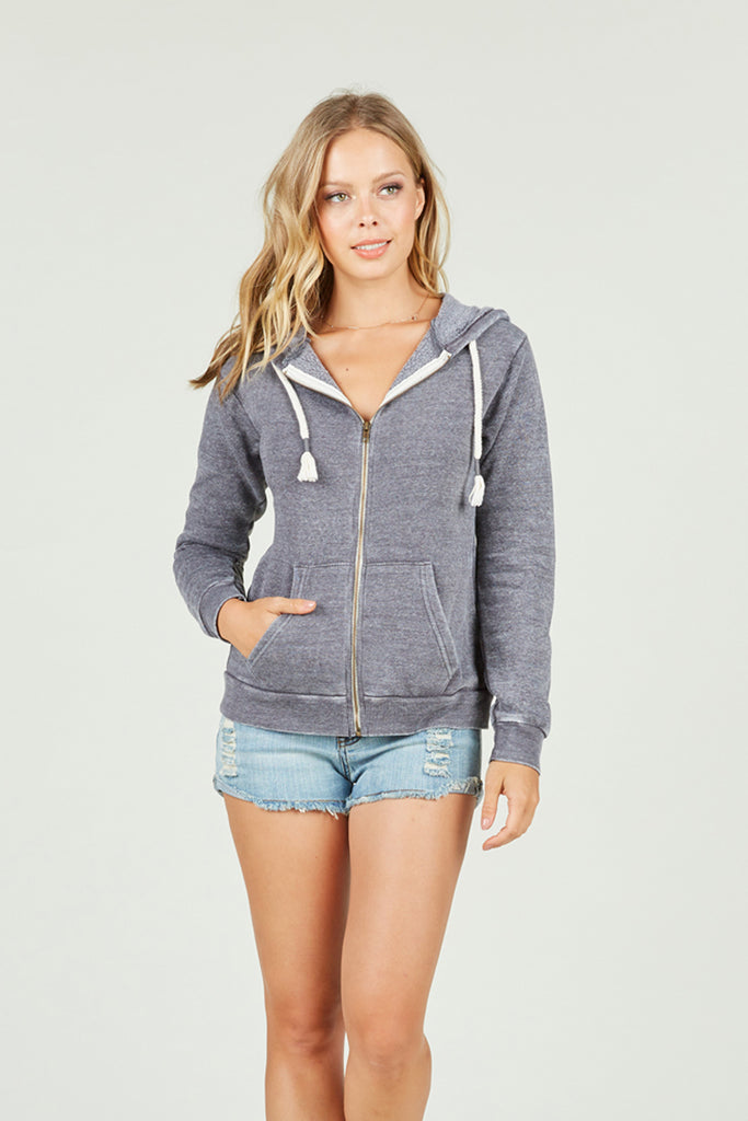 Ocean Drive x Surf Gypsy - Burnout Zip Hoody