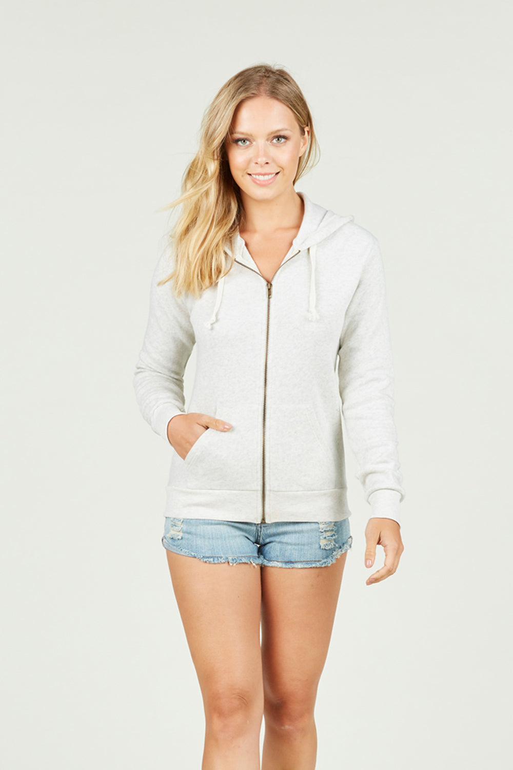 Ocean Drive x Surf Gypsy - Heather Zip Hoodie