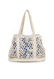 Large Tie Dyed Open Weave Tote