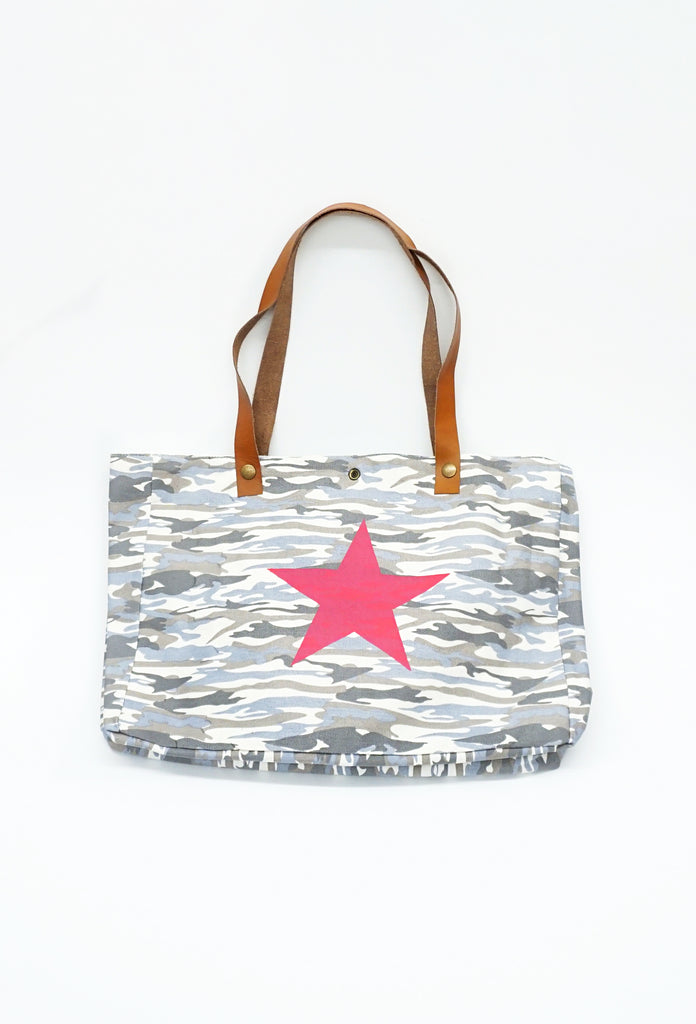 Light Camo Star Tote