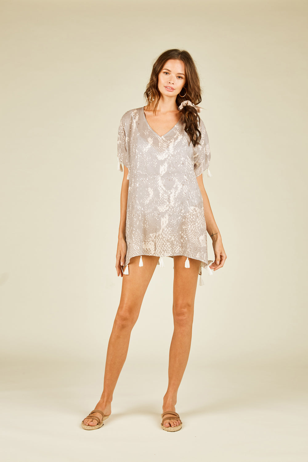 Pebble Grey Snakeskin Coverup