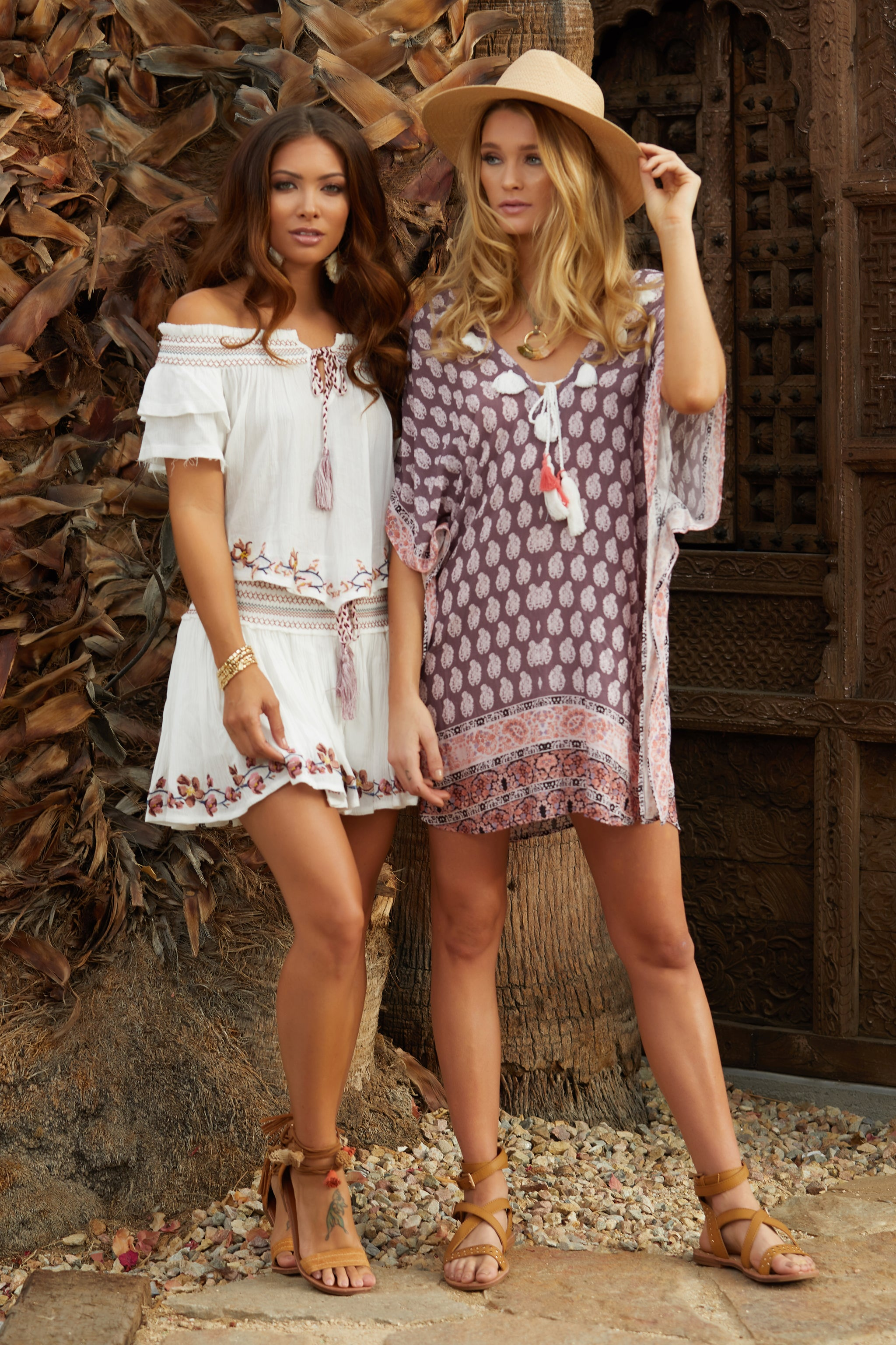 Paradise Print Tassel Cover Up