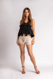 Crochet Shorts with Beaded Tassels