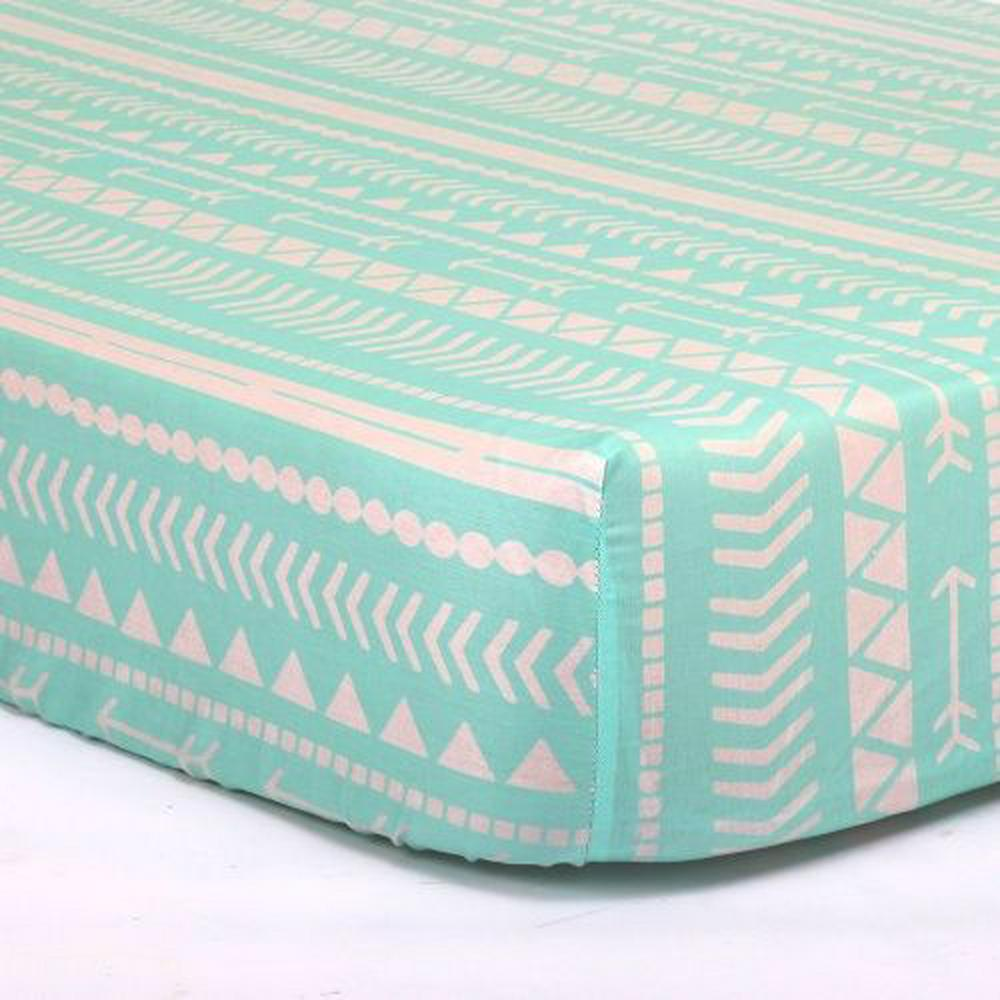 Peanut Shell Fitted Crib Sheet