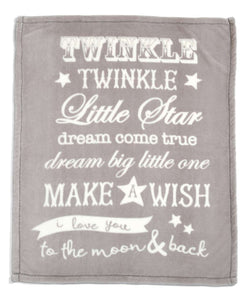 Mamas & Papas Small Fleece Blanket - Millie and Boris