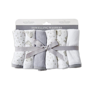 The Little Linen Co Towelling Washer 6pk