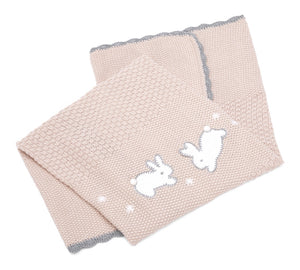 Mamas & Papas Knitted Blanket - Welcome to the World Pink