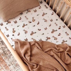 Snuggle Hunny Fitted Cot Sheet - Patterned