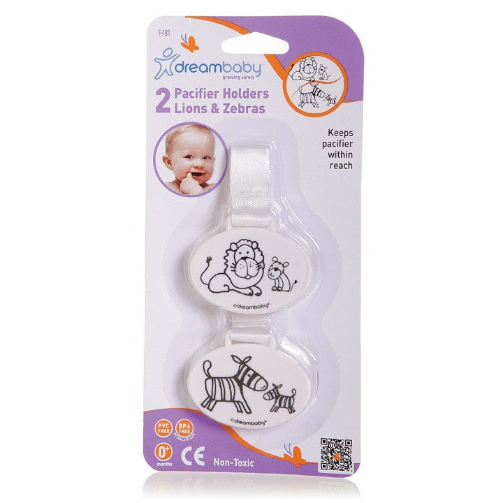 Dreambaby Pacifier Holder Lion and Zebra