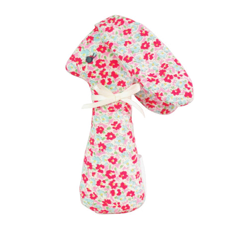 Alimrose Standing Bunny Rattle - Sweet Floral 12cm