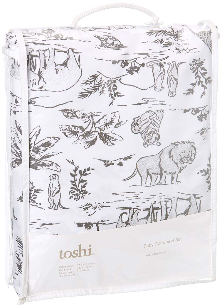 Toshi Cot Sheet Set Knit Wild
