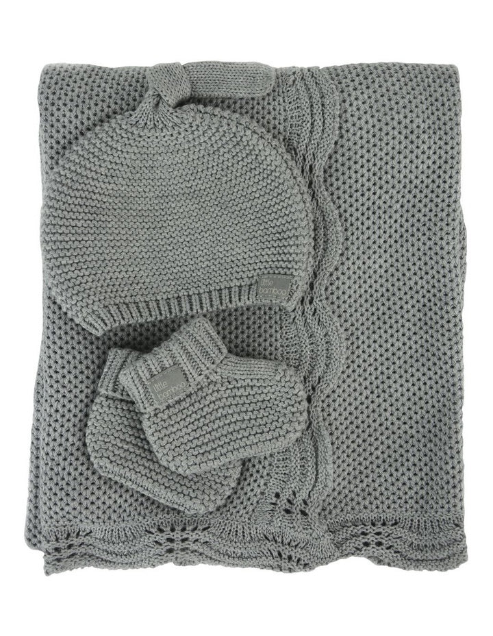 Little Bamboo Textured Gift Set - Marl Grey