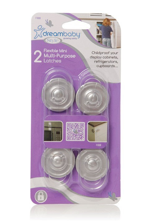 Dreambaby Mini Multi Purpose Latch Silver