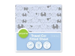 Playette Travel Cot Fitted Sheet - Elephant