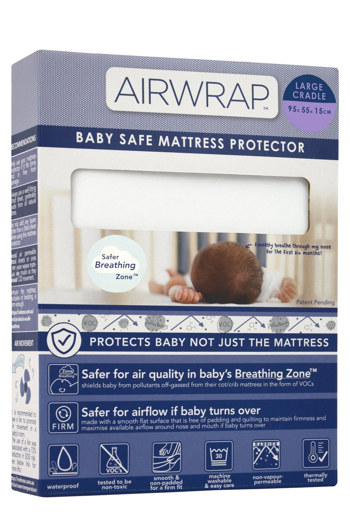Airwrap Mattress Protector Large Cradle