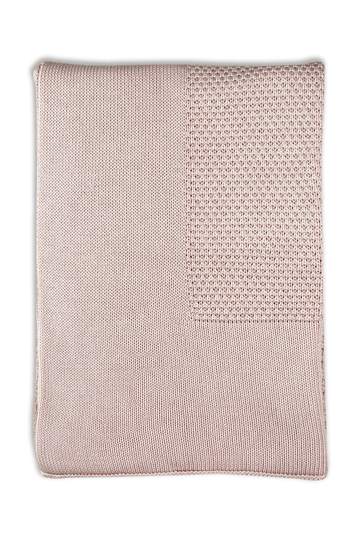 Little Bamboo Textured Knit Blanket - Dusty Rose