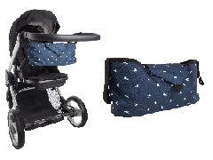 Playette Buggy Stroller Organiser - Navy with Birds