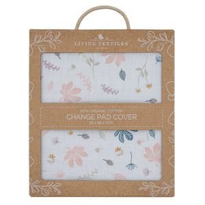 Living Textiles Organic Muslin Change Pad Cover - Botanical