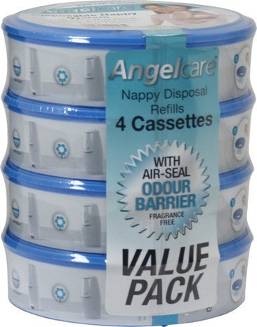 Angelcare Nappy Refill Cartridges 4pk