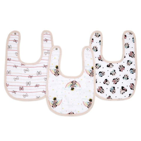Aden + Anais Essentials Disney 3pk Snap Bibs - Minnie