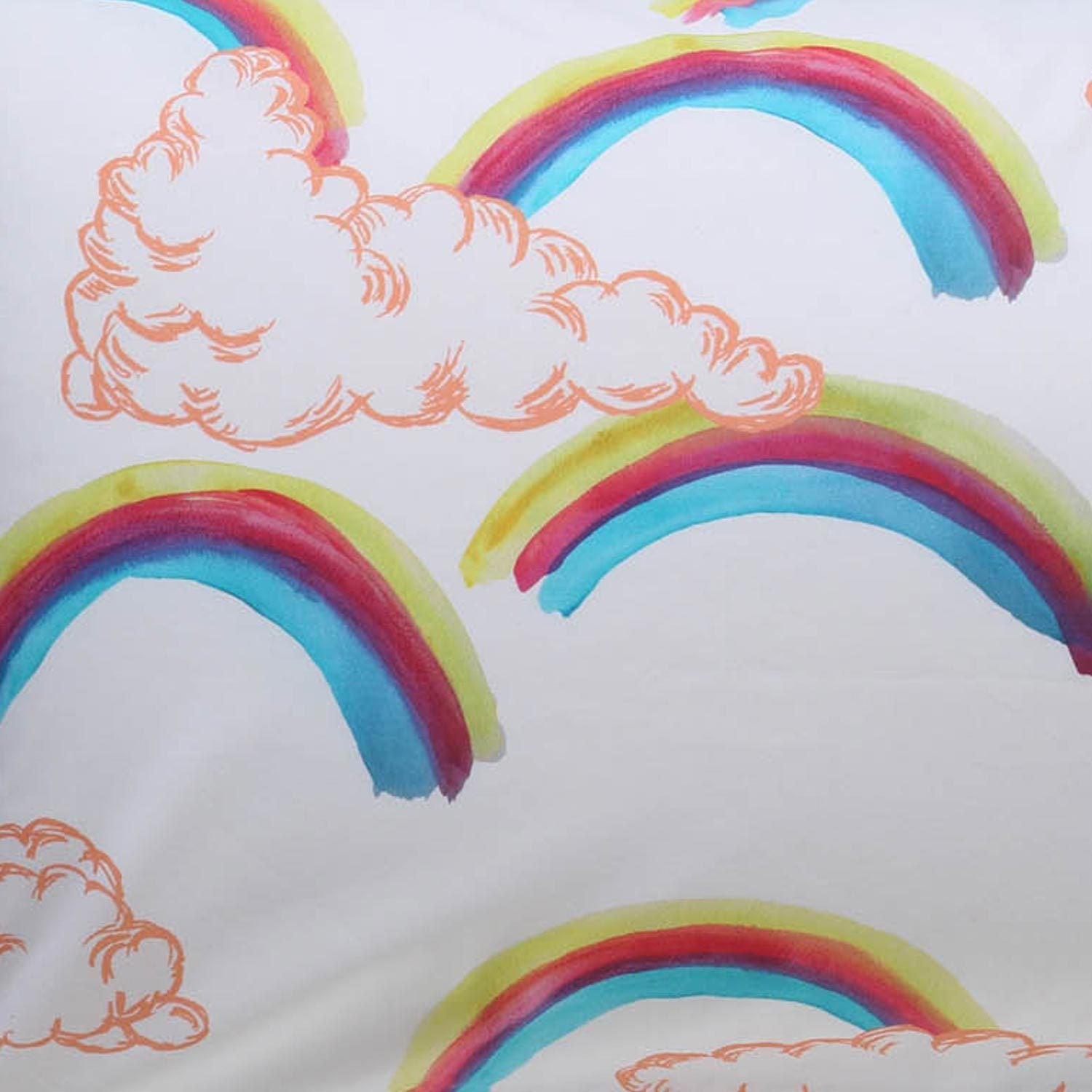 Kip & Co Over the Rainbow Cotton Fitted Sheet - Cot