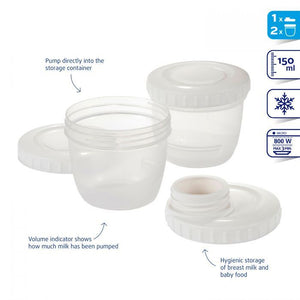 Difrax BtoB Breast Pump Connector inc Storage Cups