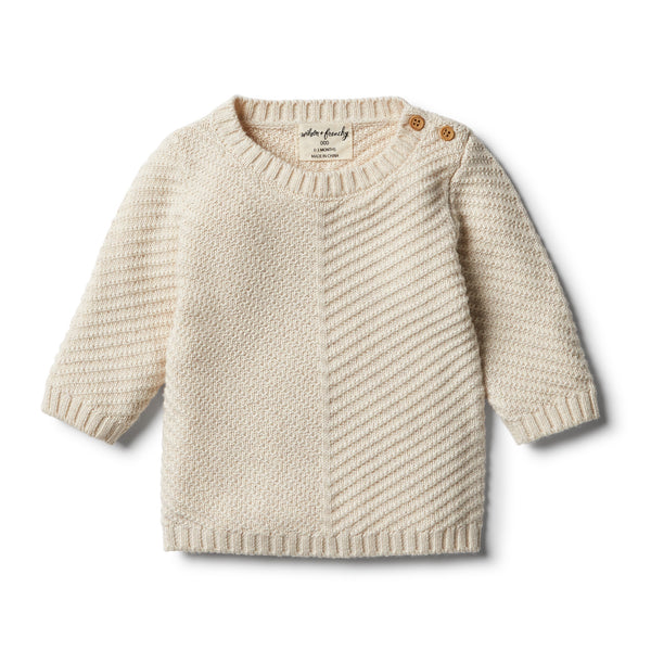 Wilson & Frenchy Oatmeal Knitted Chevron Jumper