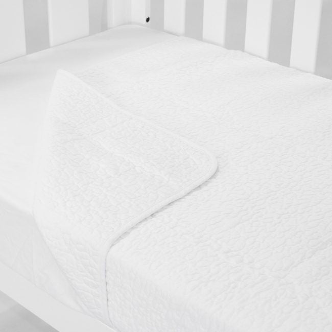 Babyhood Cot Quilt Coverlet - Classic White