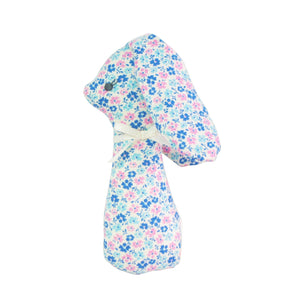 Alimrose Standing Bunny Rattle - Blue Floral 12cm