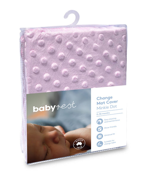 Babyrest Change Pad Cover Minkie Dot