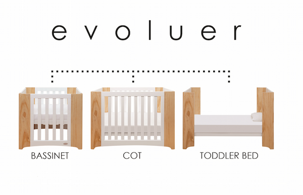 Cocoon Evoluer Cot + Mattresses