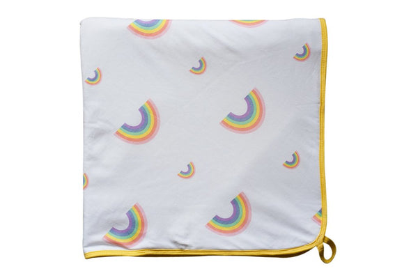 Little Turtle Baby Hooded Towel - Rainbows