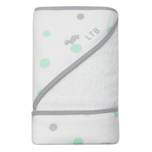 Little Turtle Baby Hooded Towel - Spots