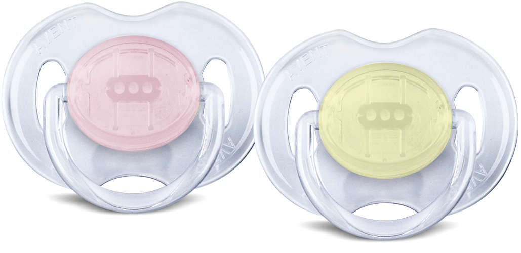 Avent Classic Soother Translucent 0-6mths 2pk